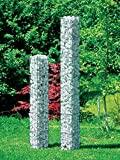 bellissa Gabionen Säule eckig Höhe 125 cm