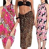 Combo of Three beach wear sarong and par...
