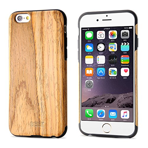 "BELK Apple iPhone 6 / 6S Case - ARTISAN MASTER Series [Hartholz + PC Hybrid] Tough Holz Case Slim Bumper Schutzhlle fr Apple iPhone 6 & iPhone 6S (4.7 "") - Limba teak"