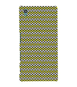 Glow Chevron Arrows 3D Hard Polycarbonate Designer Back Case Cover for Sony Xperia Z5 :: Sony Xperia Z5 Dual (5.2 Inches)
