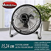 Ventilador Portatil Metalico de Sobremesa mini Potente│ MP3686 │ 15.24 Centimetros│ 20W