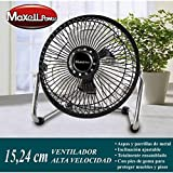 Ventilador Portatil Metalico de Sobremesa mini Potente│ MP3686 │ 15.24 Centimetros│ 20W ★★★★★