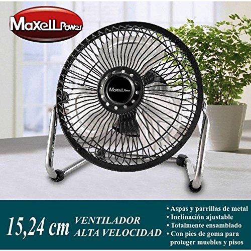 Ventilador Portatil Metalico de Sobremesa mini Potente│ MP3686 │ 15.24 Centimetros│ 20W...