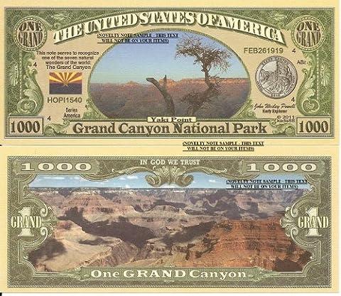 Novelty Dollar Grand Canyon National Park Yaki Point Dollar Bills