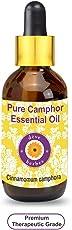 Deve Herbes Pure Camphor Essential Oil 50ml (Cinnamomum camphora) with Glass Dropper 100% Natural Therapeutic GradeSteam Distilled