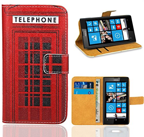 FoneExpert® Nokia Lumia 520 Housse Coque, Etui Housse Coque en Cuir Portefeuille Wallet Case Cover pour Nokia Lumia 520
