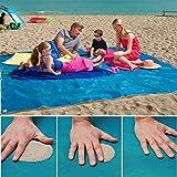 Strandmatte Sandfrei Matte Licht Compact Picnic Camping Beach Play Mat Rug Blanket für den Decke Strand Picknick Camping Outdoor Veranstaltungen (150*200cm, Blau)