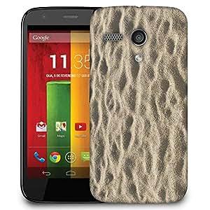 Snoogg Beach Sand Designer Protective Phone Back Case Cover For Motorola G / Moto G