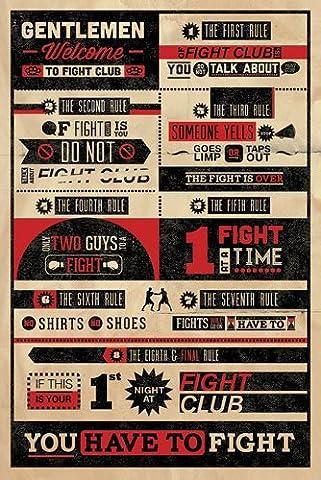 Fight Club Poster Rules (61cm x 91,5cm) + Ü-Poster