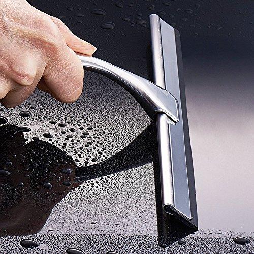 61hF4rKRIwL - wonderfulwu acero inoxidable y TPE de goma rasqueta limpiacristales de ducha con ventosa para baño espejo limpiaparabrisas