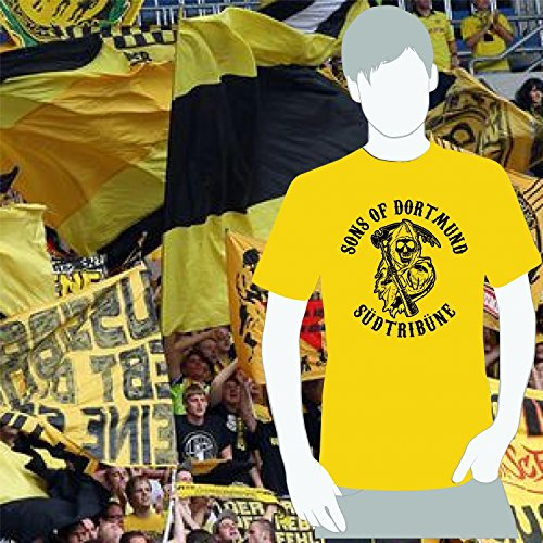 World of Football T-Shirt Dortmund SONS of Dortmund gelb - L