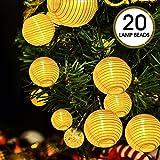 Lumineuse LED Solaire, ikalula Lumineuse Lampes Chaîne Solaire Guirlande Lumineuse LED Solaire 20 LED 5 mètres Décoration Intérieure et Extérieure pour Noël Jardin Soirée et Cérémonie