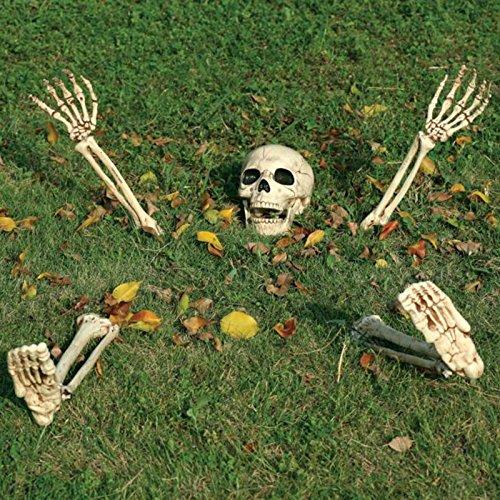 5 Piece Halloween Horror Buried Alive Skeleton Garden Yard Lawn Decoration