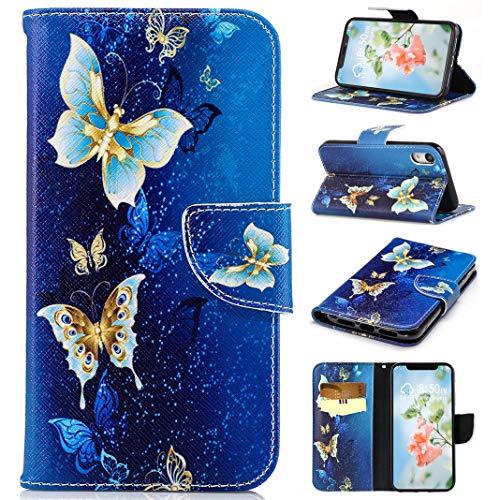 Funda iPhone 9, Amcor Love Estilo Billetera Carcasa Libro de Cuero Impresión,...