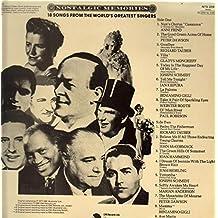 Nostalgic Memories: 18 Songs From The World's Greatest Singers [Vinyl LP]