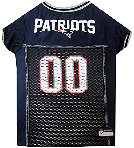 Mirage Pet Products New England Patriots NFL Jersey, Taille L