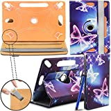 Acer Iconia One 8 B1-820 Tablet PC New Design Universal 360 degree Rotating PU Leather Designer Colourful Stand Case Cover - Electric Butterfly by Gadget Giant®
