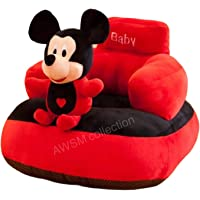 AWSM COLLECTION Baby Soft Plush Cushion Baby Sofa Seat Or Rocking Chair for Kids(Use for Baby 0 to 2 Years)-Red and…