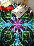 LANYU Benutzerdefinierte 3D Boden Tapete Farbe 3D Gemalt Bodenfliesen 3D Tapete Tapete Boden Inneneinrichtung, 250 * 175 cm