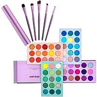 Kit per il trucco dello smalto di bellezza, tavolozza di ombretti 60 colori e set di pennelli per trucco 5 pezzi, trucco…