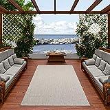 Pergamon IIn- und Outdoor Teppich Flachgewebe Carpetto Uni Grau Mix in 4 Größen