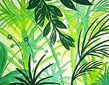 Acrylmalerei auf Leinwand mit Keilrahmen // Trend Grün // Dschungel // handgemaltes Unikat 100 x 80 x 4 cm