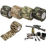 auvstar Camo Nastro Tessuto Camouflage, Nastro Autoadesivo Protettiva Camouflage Wrap 5 cm x 4.5 m Non Tessuto Stealth Nastro