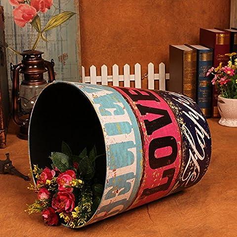 WHH/Continental casa in pelle grande barrels. Fashion Creative Living camera decoration. cucina trash can. senza coperchio Cestino