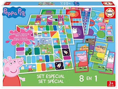 Peppa Pig- Set 8 en 1, Color (Educa Borrás 16791)