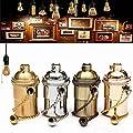 KINGSO E27 Lampenfassung Kupfer Vintage Retro Antike Edison Pendelleuchte Hängelampe Halter DIY Lampe Zubehör mit Pull Kette