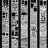 CESHUMD Zeichenschablonen Paint Marker 20 Stück Tagebuch Schablone Kunststoff Zeichnung