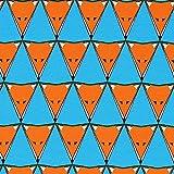 Tula Bio Jersey Fuchs Dreieck – türkisblau – GOTS — Meterware ab 0,5 m — GOTS - Global Organic Textile Standard&Oeko-Tex Standard 100 — zum Nähen von Kinderbekleidung, Tops und Shirts und Kleidern