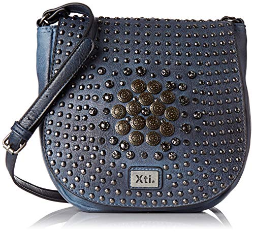XTI 86153, Bolso Bandolera para Mujer, Azul (Navy), 22x23x7 cm (W x H x L)