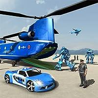 La police des États-Unis transforment le jeu de transport de voiture de robot - simulateur de transporteur d'hélicoptère 2018