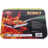 Kono - Instant Light Disposable BBQ For Parties Outdoor Garden Travel Camping Folding Grill - 31 x 25 cm