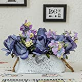 Jnseaol Kunstblumen Künstliche Blumen Diy Gefälschte Blumen Wohnzimmer Windowsill Hochzeit Party Küche Hause Wok Urlaub Geschenke Topfpflanzen Blau-11