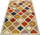 #3: Jain Carpets Handmade Dhurrie Area Rug 5X8FT Multi Color