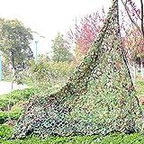 Bestland Camouflage Netz Waldtarnungs Tarnnetz Netz für Camping Militärjagd Schießen Angeln Outdoor (3.2*6.5ft(1mx2m))