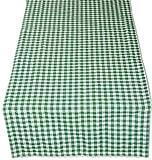 Pflegeleichte Tischdecke 50x150 cm Tischläufer Tischband Grün Weiß Kariert Gartendecke Küchendecke Landhaus (Tischläufer 50x150 cm rechteckig)