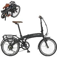 Fischer E-Bike Klapprad / Faltrad FR18, graphitschwarz matt, 20 Zoll, Bafang Hinterradmotor 25 Nm, 36V Akku im Rahmen, 7…