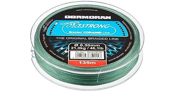 Cormoran Corastrong grün 0,35mm 135m Geflochtene Schnur 26,5kg