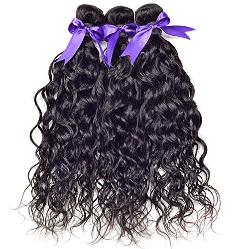 BBWig 7A Brasilianisch Natürlich Wasser Welle Mensch Echthaar Tressen Haarverlängerung Weben 100% Mensch Haar Schuss Jungfrau Haar Erweiterungen 1 Bündeln 100g(10-28inch), 10