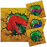 Folat Servietten Dino Party, ca. 25x25 cm, 16 Stück