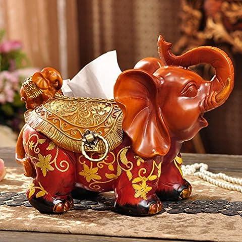 MENGYZ 2016 Scatola del tessuto europeo resina esclusivo Hotel della famiglia libro scatola personalizzata elephant ornamenti del contenitore di