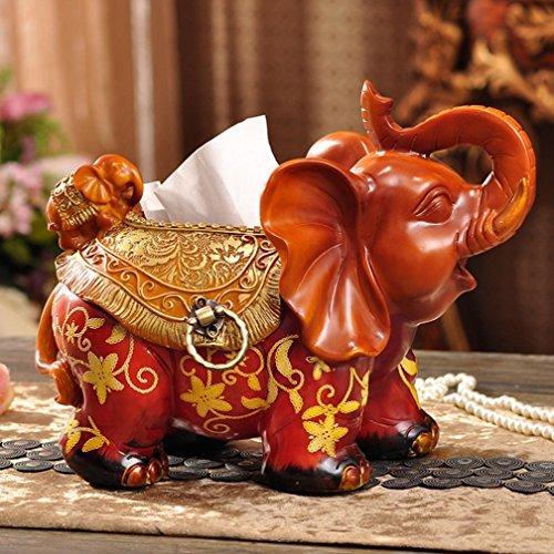 Du lijun 2016 Scatola del tessuto europeo resina esclusivo Hotel della famiglia libro scatola personalizzata elephant ornamenti del contenitore di