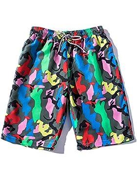 Zgsjbmh Pantalones de Playa para Hombres de Secado Rápido Camo Sueltos Pantalones Cortos Cómodos (Tamaño : XXXL)