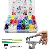 SUNTATOP 360 Sets T5 Plastic Knoppen Bevestigingsmiddelen Drukknop + Snap Tang-set voor Alle Soorten Kleding DIY (24 kleuren,
