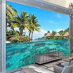 Photo personnalisé fond d'écran 3D HDmer plage paysage naturel photographie salon TV fond peinture murale Mural @ 150 * 105 cm