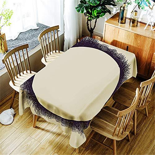 SONGHJ Polyester Tischdecke wasserdicht Rechteck Baumwolle Tischdecke Esstisch Abdeckung Home Halloween Dekoration B 140x140cm