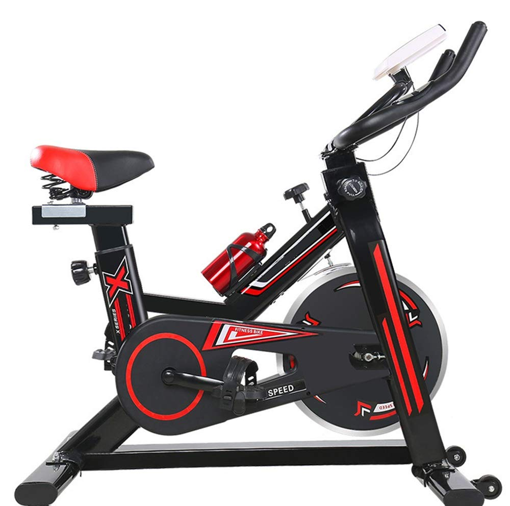 61hGX31X5FL - YHSport Indoor Cycling Exercise Bike, F-Bike Home Trainer Flywheel Adjustable Magnetic Resistance, 2-Piece Crank, 5-Function Monitor, Emergency Stop System, Ergonomic Fully Adjustable Seat